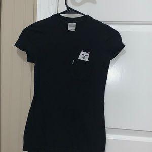 woman's black ripndip shirt